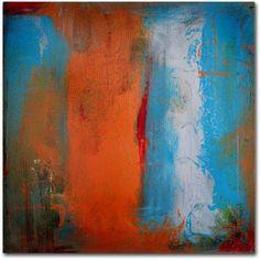 Trademark Fine Art Orange Swatch Canvas Art by Nicole Dietz, Size: 18 x 18, Multicolor