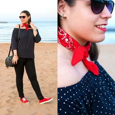 Un poco de Grease & Rock 'n' Roll - Temporada: Primavera-Verano - Tags: mimalditadulzura, fashionblogger, ootd, look, outfit, fashion - Descripción: Una perfecta combinación de rojo y negro, con mucho rock 'n' roll ❤ #FashionOlé