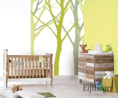 #repurposed #wood slats for #nursery decor