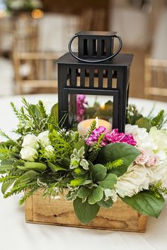 Black Lantern Centerpiece With Fresh Greenery Lantern Centerpiece Wedding, Greenery Centerpiece, Wedding Lanterns, Lanterns Decor, Wedding Table Centerpieces, Flower Centerpieces, Wedding Decorations, Table Decorations, Centerpiece Ideas