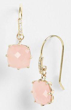 Cushion cut drop earrings