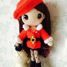 Amigurumi Christmas doll. (Inspiration).