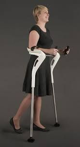 Amputee on crutches 339388521918069471 - The M+D Crutch, Designed For Comfort & Ease of Use. Also Has a Century 'Storm Trooper' Look ? Source by traceyfalcon Electronics Projects, Elderly Products, Adaptive Equipment, Mobility Aids, Disabled People, Crutches, Wearable Device, Mobile Design, Media Design