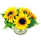 Found it at Wayfair - Sunflower Bouquet in Acrylic Water Vase