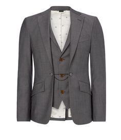 Grey Melange Waistcoat Jacket