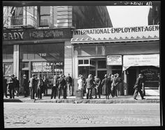 Employment agency, San Francisco, 1937, by Dorothea Lange