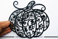 Pumpkin paper cut svg / dxf / eps files and pdf / png Kirigami, Pumpkin Tattoo, Paper Cutting Templates, Paper Cut Design, Arts And Crafts House, Cut Image, Free Svg Cut Files, Silhouette Cameo Projects, Halloween Design