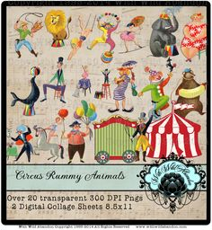 circus clipart, carnival clipart, vintage circus, clown, Ringmaster, birthday party, party clipart, vintage clipart, invitations, instant download, scrapbook clipart, birthday party clipart