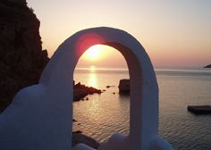 Tilos Accommodation - Ilidi Rock Apartments and Suites. Accommodation in Tilos island, Greece. Greek Islands, Homeland, Wonderful Places, Sunrise, Villa, Neon, Sky, In This Moment, Rock