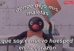 64 Ideas Memes Love Pingu For 2019 New Memes, Dankest Memes, Funny Memes, Reaction Pictures, Funny Pictures, Pingu Memes, Memes Amor, Romantic Memes, Memes Lindos