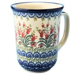 New Polish Pottery COFFEE LOVER'S MUG Boleslawiec CA Pattern 1437 Euro Stoneware on eBay!