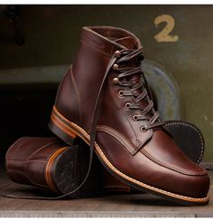 Courtland (Moc Toe) 1000 Mile Boot - Brown Goodyear Welted