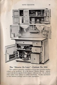 Hoosier Cabinet advertising-how I wish