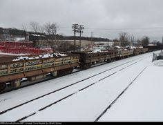 Some Side Dump Cars on 417   Description:    Photo Date:  3/19/2013  Location:  Kingston, NY   Author:  Brett Jones