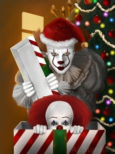 And a Merry Christmas to you. Dark Christmas, Merry Christmas To You, Magical Christmas, Clown Horror, Funny Horror, Terror Movies, Scary Movies, Ukulele Art, Horror Drawing