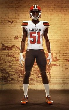 2015 New Cleveland Browns 71 Shelton Elite Orange Jersey