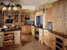 French country, southwestern, rustic kitchen