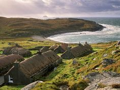 High resolution nature desktop wallpaper of Garenin Black House Village, Isle Of Lewis, Outer Hebrides, Scotland (ID: The Places Youll Go, Places To See, Wanderlust, Outer Hebrides, Scottish Islands, Scotland Travel, Scotland Map, British Isles, Black House