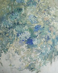 Blue Artwork, Nature Artwork, All Nature, Plant Illustration, Japanese Painting, Traditional Paintings, Japan Art, Abstract Canvas, Painting Inspiration