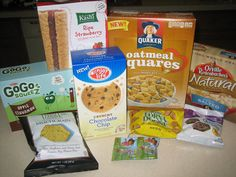 Nut-free, diary-free, egg-free snacks. Good List!! Will save me for when it's Alex's turn at school