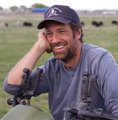 Mike Rowe.  Aside from just being a hot guy - any guy who works a hard job and can still smile like that... is a man!