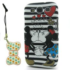 Amazon.com: DD(TM) Style-04 Cute Cartoon Minnie & Mickey Mouse Kiss Hard Plastic Case Back Shell Protective Cover for Samsung Galaxy S3 SIII...