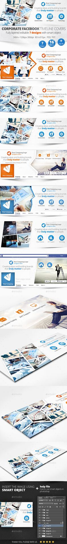 Corporate Facebook Timeline Covers Templates PSD #design Download: http://graphicriver.net/item/corporate-facebook-timeline-covers-/11211203?ref=ksioks