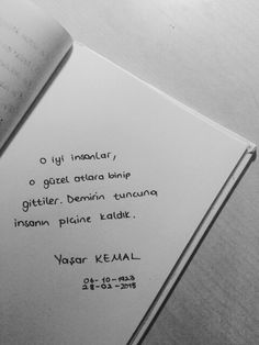 - Yaşar Kemal True Lies, Poetry Books, More Than Words, Carpe Diem, Motto, Cool Words, Karma, Quotations, Literature