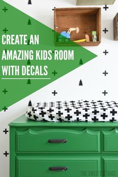 When I was dreaming up my sweet little boy's room, I knew that I wanted a scandinavian feel (think minimalist black + white) but with some kelly green and rusti…