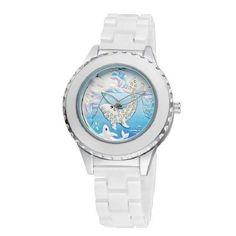 bf30c46f372 Womens White Ceramic Dolphin Watch