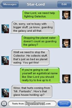 Humility has never been one of Reed's superpowers.  http://textsfromsuperheroes.com/