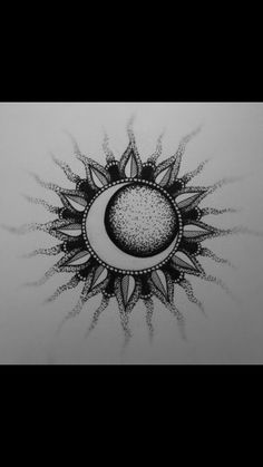 Sun and moon tatoo tattoos, mandala sun tattoo a moon sun tattoo. Tattoo Dotwork, 1 Tattoo, Piercing Tattoo, Piercings, Lotus Tattoo, Chest Tattoo, Moon Sun Tattoo, Sun Tattoos, Body Art Tattoos