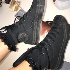 60ff8fbc23 all black high top converse 🖤 has normal wear from over the - Depop  Converse High