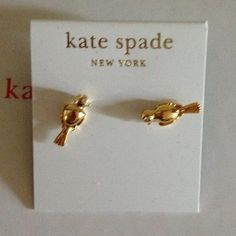 Kate spade caged earrings BNWT. Comes with dustbag. 14kt gold filled posts. Will consider offers using the offer button only. no trades.45/39 kate spade Jewelry Earrings