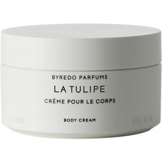 Byredo Women's La Tulipe Body Cream ($94) ❤ liked on Polyvore featuring beauty products, bath & body products, body moisturizers, fillers, beauty, makeup, white, fillers - white, no color and quotes