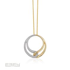 Double the gold, double the fun? EFFY's Duo Collection featuring 14K white and yellow gold flanked with diamonds.  *Coming Soon*