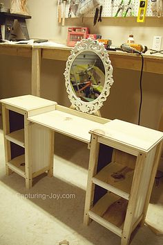 Little Girls Play Vanity Table