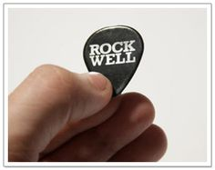 If the answer was yes to both of those questions then you'll love these! Designed by Simon Whybray these Rock Well Picks use the Rockwell font obviously!
