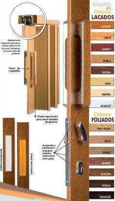 Mecanismos para puertas correderas saheco by vitrum - Puerta plegable madera ...