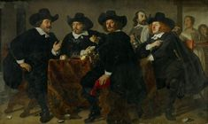 The Amsterdam Museum to present its restored masterpieces at TEFAF Maastricht. Bartholomeus van der Helst The Headmen of the Longbow Civic Guard House, Gian Lorenzo Bernini, Guard House, Dutch Golden Age, New Museum, Dutch Artists, Longbow, Caravaggio, Chiaroscuro, Historian