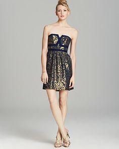 Alice & Trixie Strapless Silk Dress - Valeria | Bloomingdale's