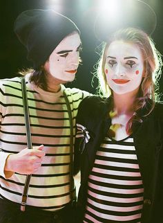 Grab your boo as dress up as a couple of mimes.
