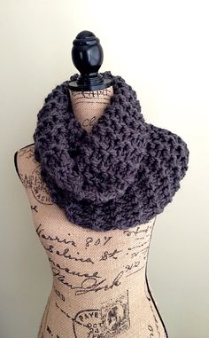 Outlander inspired super chunky knit cowl fall infinity scarf by DesignByEJ, $35.00