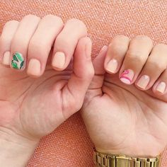 Favorite Manicures (these pretty palm leaf and flamingo manis by Olive & June!)
