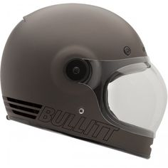 Bell Helmets Bullitt Retro Matte Metallic Titanium Helmet available at Motochanic.com