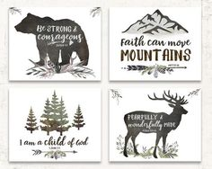 WOODLAND NURSERY WALL ART SET OF FOUR Add these best selling woodland nursery art prints to your rustic boys room or woodland nursery walls! This carefully curated set of prints will make a stunning gallery wall for your little boys room! Woodland Nursery Prints, Boho Nursery, Nursery Wall Art, Woodland Decor, Bedroom Wall, Nursery Rugs, Rustic Nursery Boy, Boy Wall Art, Forest Nursery