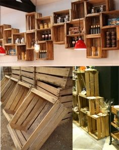 Good example of wall mounted crates