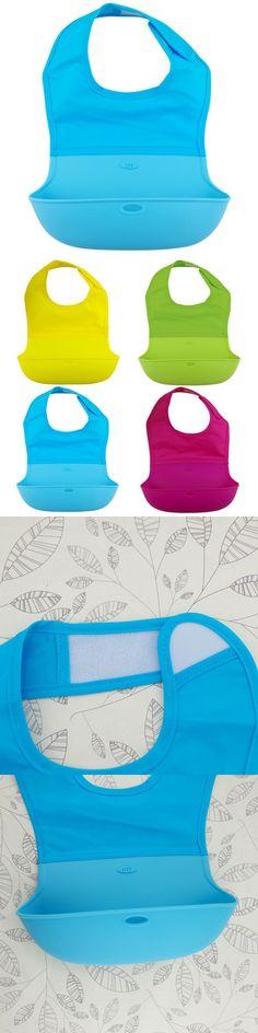 Kids Baby Waterproof Solid Nylon Silicone Bibs Baby Bibs Baby Feeding Apron Cloths