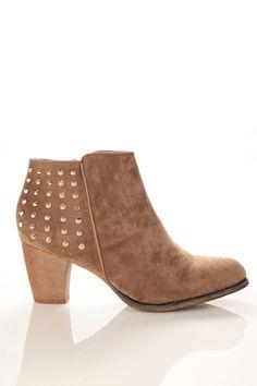 3dc9a68bac5 Studded Chunky Heel Booties - Shoes Chunky Heels