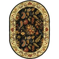 Shop for Safavieh Handmade Paradise Black Wool Rug (7'6 x 9'6 Oval). Get free shipping at Overstock.com - Your Online Home Decor Outlet Store! Get 5% in rewards with Club O!
